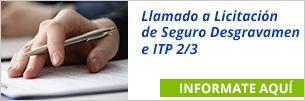 Llamado a Licitación de Seguro Desgravamen e ITP 2/3